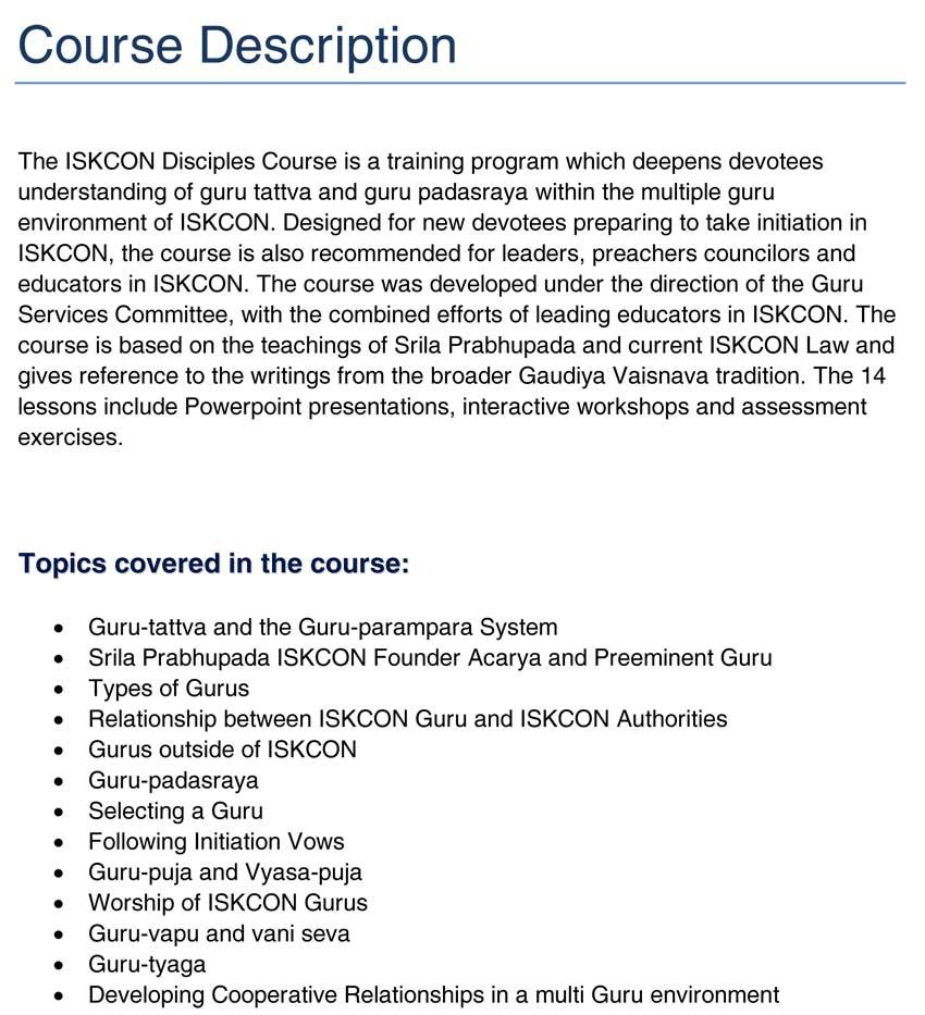Index of /events/Workshops |Course Description
